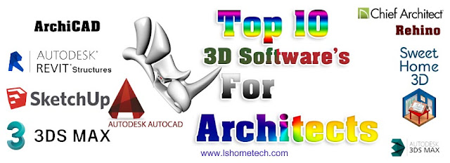 Top 3D software for architect.