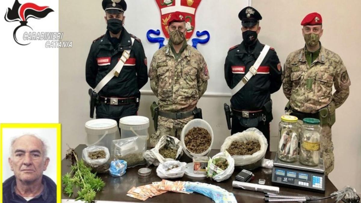 Paternò marijuana Carabinieri