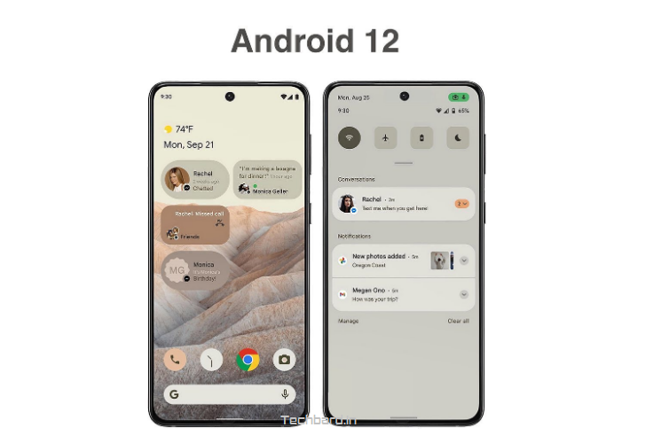 First look of Android 12