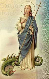 Santa Marta con el Dragon a sus pies