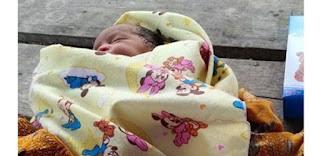 Seorang Bayi Umur 2 Hari Ditemukan di Sebuah Gubuk Tambang