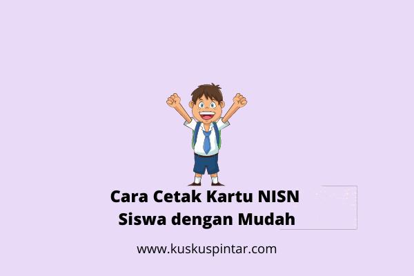 Cetak Kartu NISN