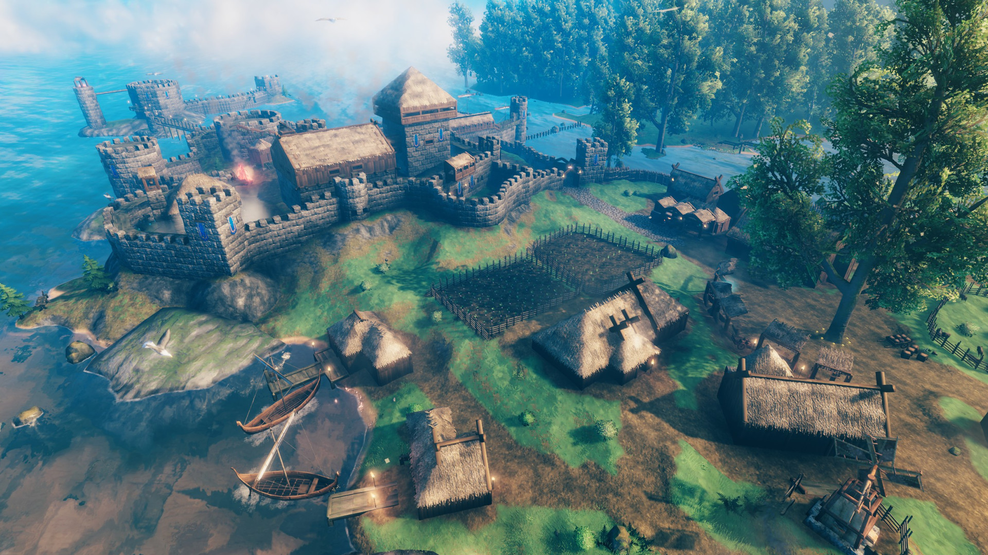 How to build a stone house and fortifications in Valheim