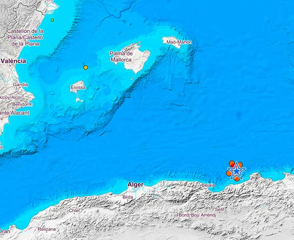 Terremotos en el Mediterráneo, Argelia