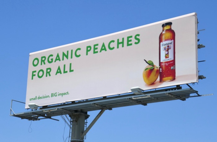Organic Peaches Honest billboard