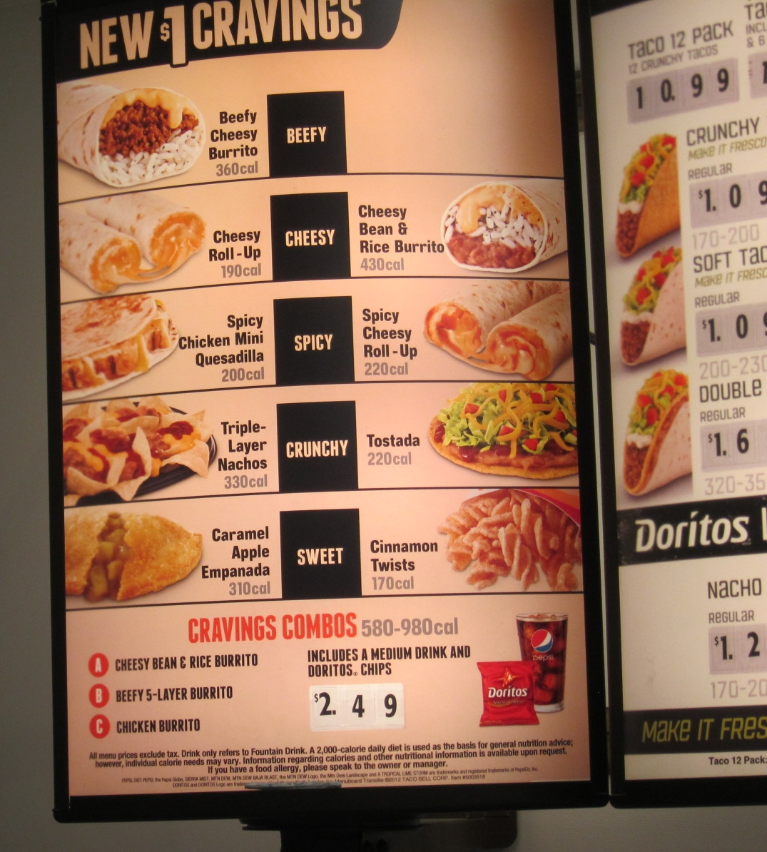 news: taco bell tests new $1 cravings menu | brand eating