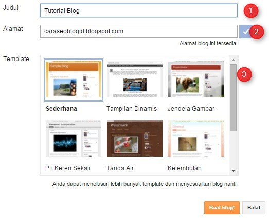 Tuliskan Nama Blog kamu