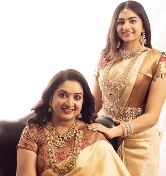 Anitha Vijaykumar Bottu Mala Mango Set