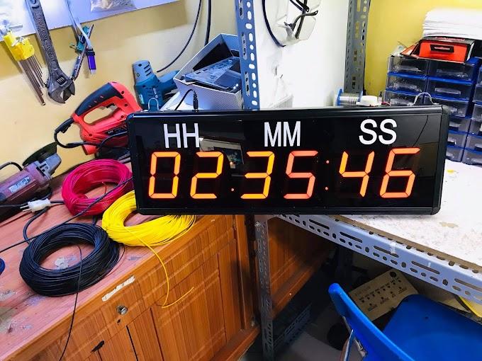 Đồng hồ led đếm ngược 20 x 60 cm điều khiển từ xa