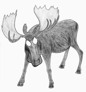 Pencil Sketch Of Moose