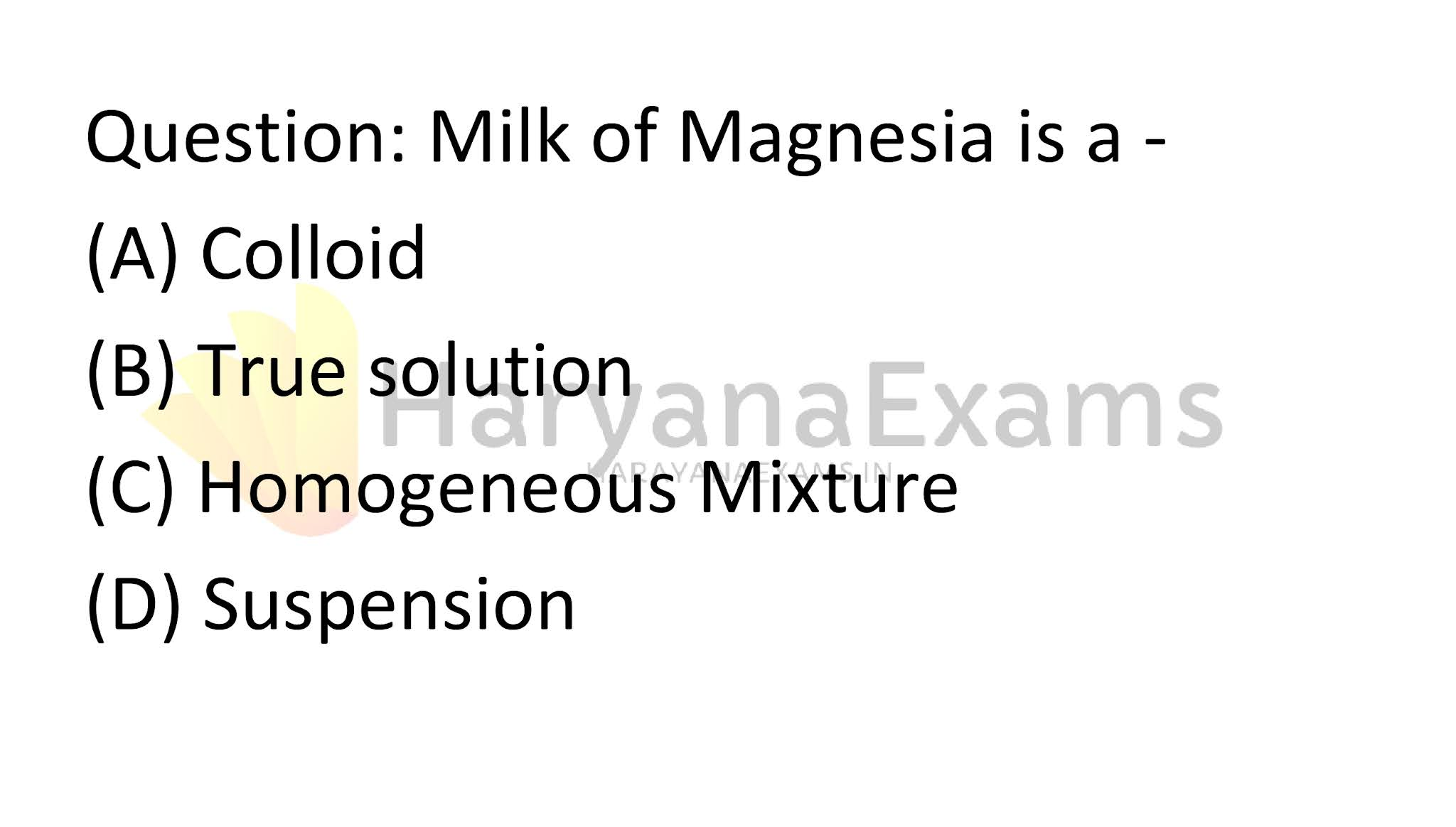 Milk of Magnesia is a -