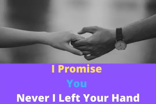 Some things you don't  have to promise. You just do.Happy Promise Day