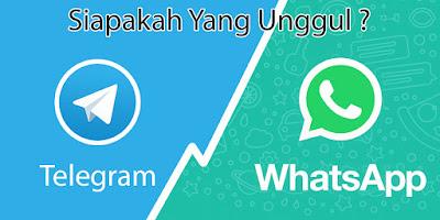Telegram vs Whatsapp Siapakah yang Unggul?