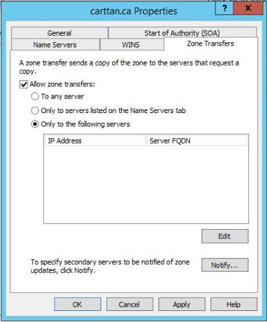 Figure 11: Step 11 of migrating a Linux BIND name server to a Windows Server DNS server.