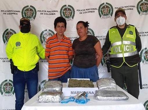 Pareja de jíbaros 'se cayó 'con dos kilos de marihuana en Codazzi