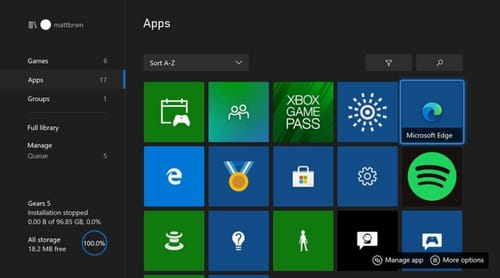 Microsoft is testing the Edge browser on Xbox