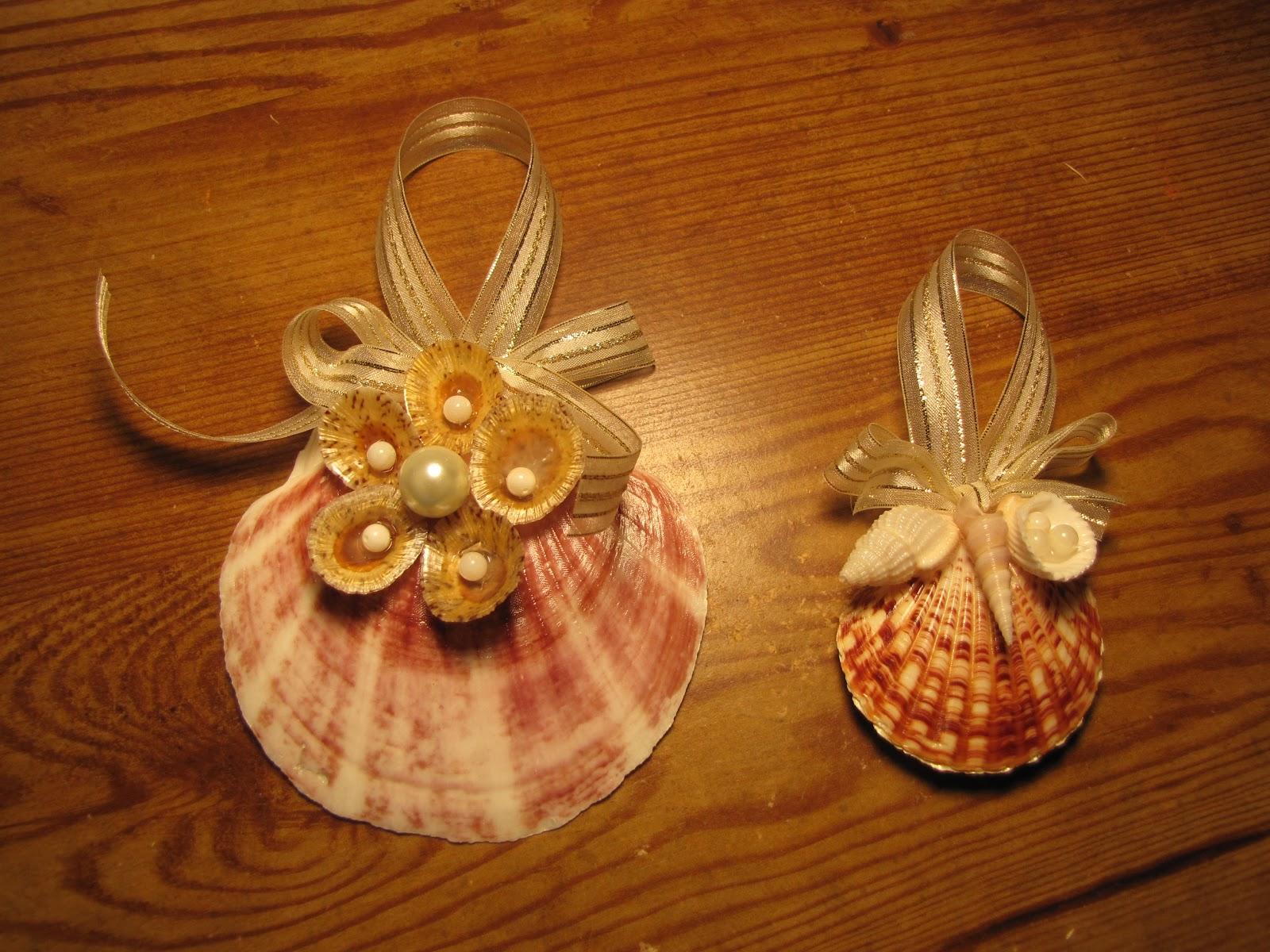 Classics By The Sea: Seashell Christmas Ornaments