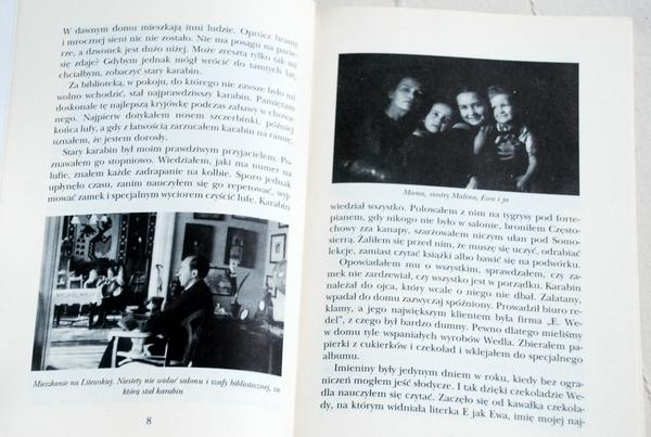 Wnętrze książki, zdjęcia z rodzinnego archiwum