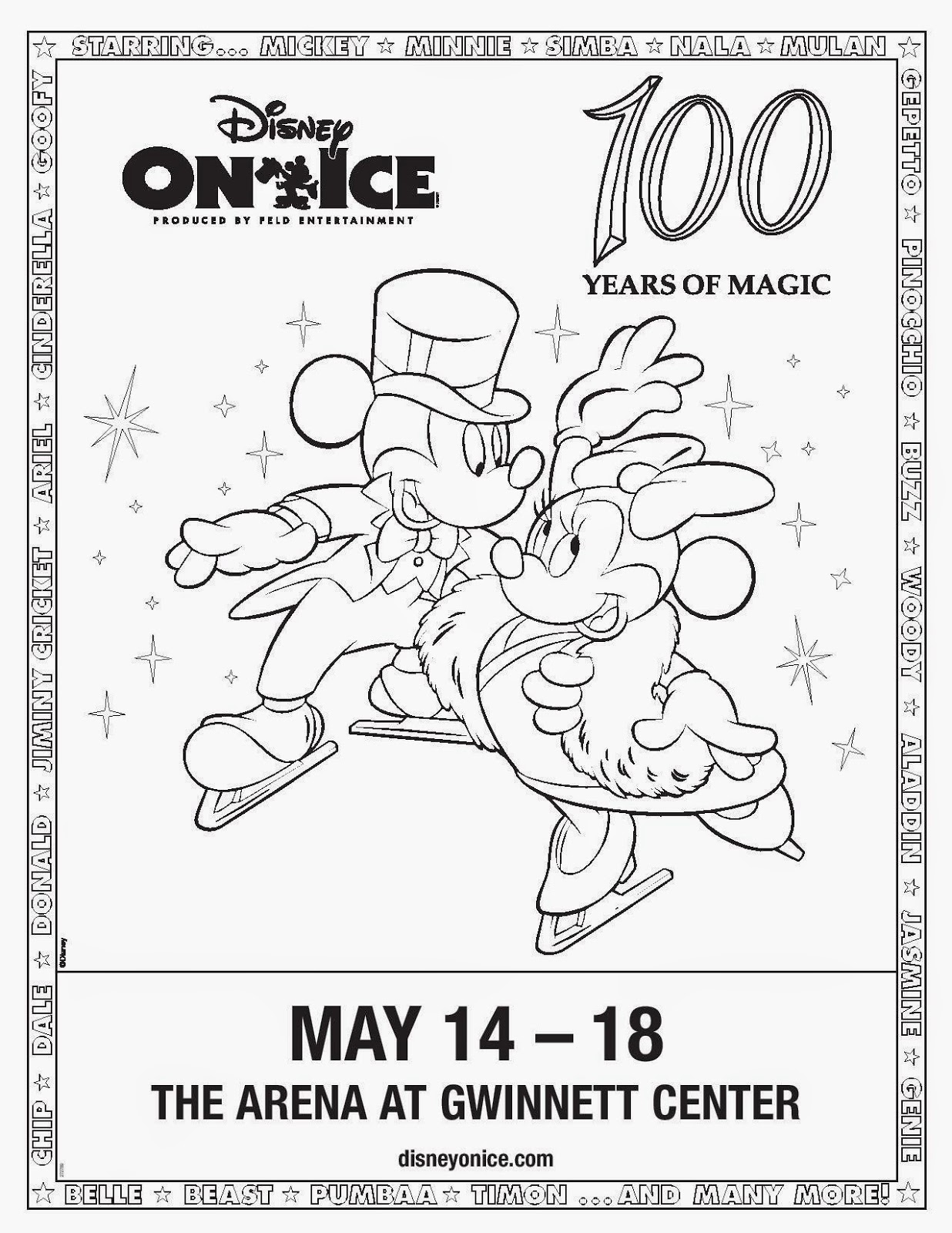 Disney On Ice Coloring Pages Coloring Page For Kids