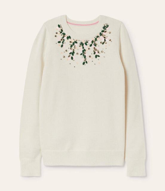 Hereditary Grand Duchess Stephanie wore Boden Montrose Embellished Sweater