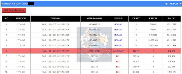 Bukti Jakpot Member di Pangerantoto4 tanggal 30 October 2019