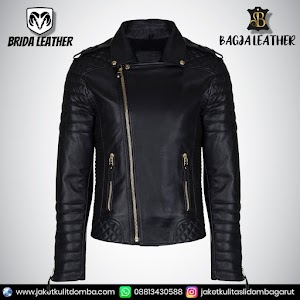 Jual Jaket Kulit Asli Garut Pria Domba Original Brida Leather B48 Ramones Reasing   WA 08813430588