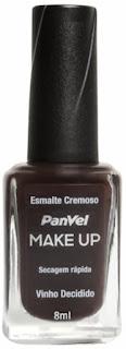 Esmalte Panvel Make Up Vinho Decidido: R$ 4,35
