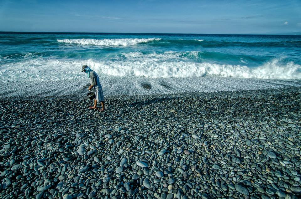 Stone Gatherer of Luna La Union Philippines