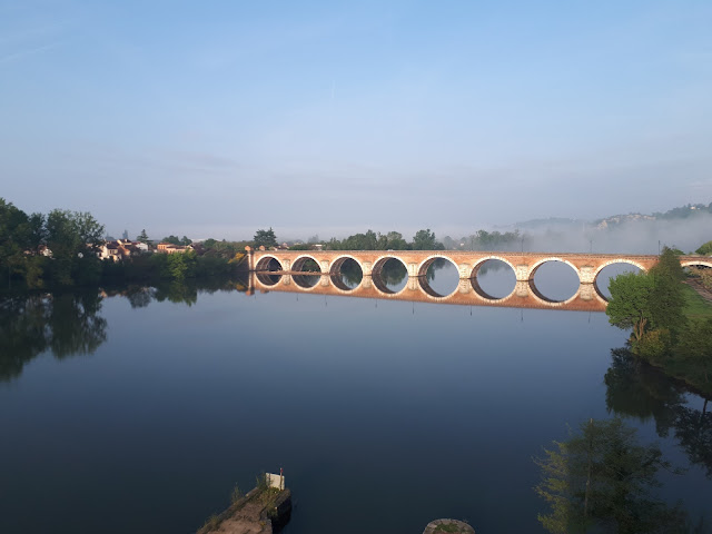 pont de Napoleon bridge from hotel Moulin de Moissac