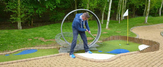 Minigolf course at Rutland Water
