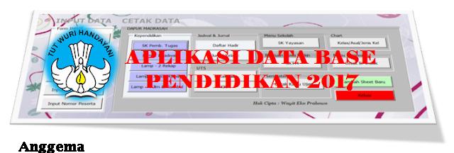 Master Aplikasi  Database sekolah K13 SD excel