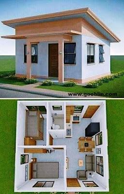 denah lengkap rumah super minimalis