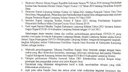 Bupati Lampung Selatan Tunda Pilkades Serentak 2021