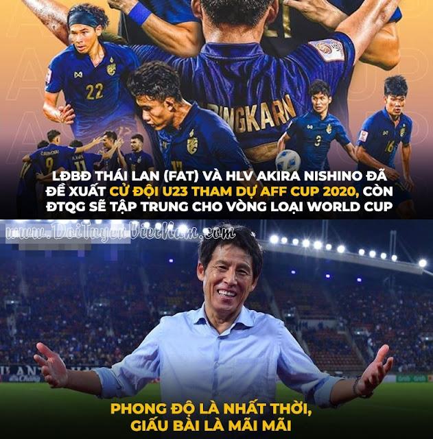 """Thái lan tính """"chơi chội"""" dùng đội hình U23 thách thức đội tuyển Việt Nam tại AFF Cup 2020"""