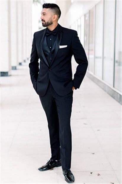 One button Groomsmen Suit