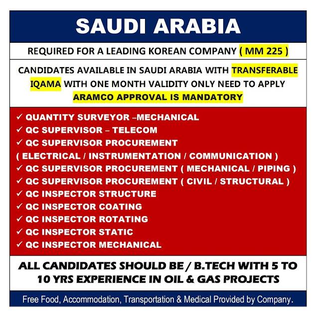 Saudi Arabia Jobs, Oil & Gas Jobs, Quantity Surveyor, Instrumentation Jobs, QC Instrument, QC Electrical, QC Mechanical, Asiapower Jobs
