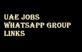 UAE Jobs Whatsapp Group Links | Free Joining