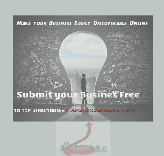 Make your Business Discoverable Online by submitting it Free at Top Directories-ads2020.marketing