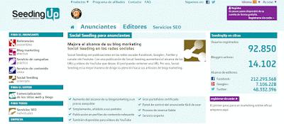 SeedingUp, post patrocinados