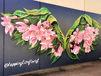 Leppington Street Art   Floral Wing mural by Reubszz