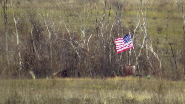 Ukraine meets a journalist: US flags raised in Donbass