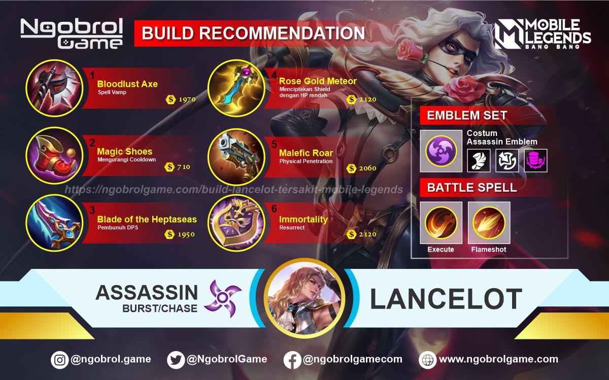 Build Lancelot Top Global Tersakit Mobile Legends