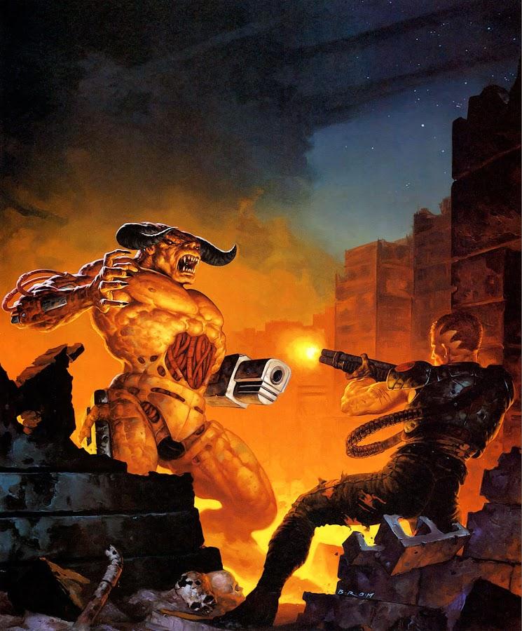 doom 2 hell on earth cover artwork