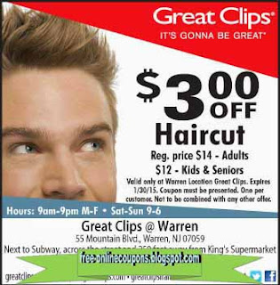 Working Great Clips Haircut Coupon & Great Clips Printable Coupons at Great Clips Stores Free Shipping Promo Codes, FREE Haircuts in 1 year: Shop now!