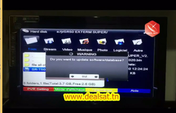 Comment installer software et liste des chaines Starsat T50-T40 EXTERME SUPER