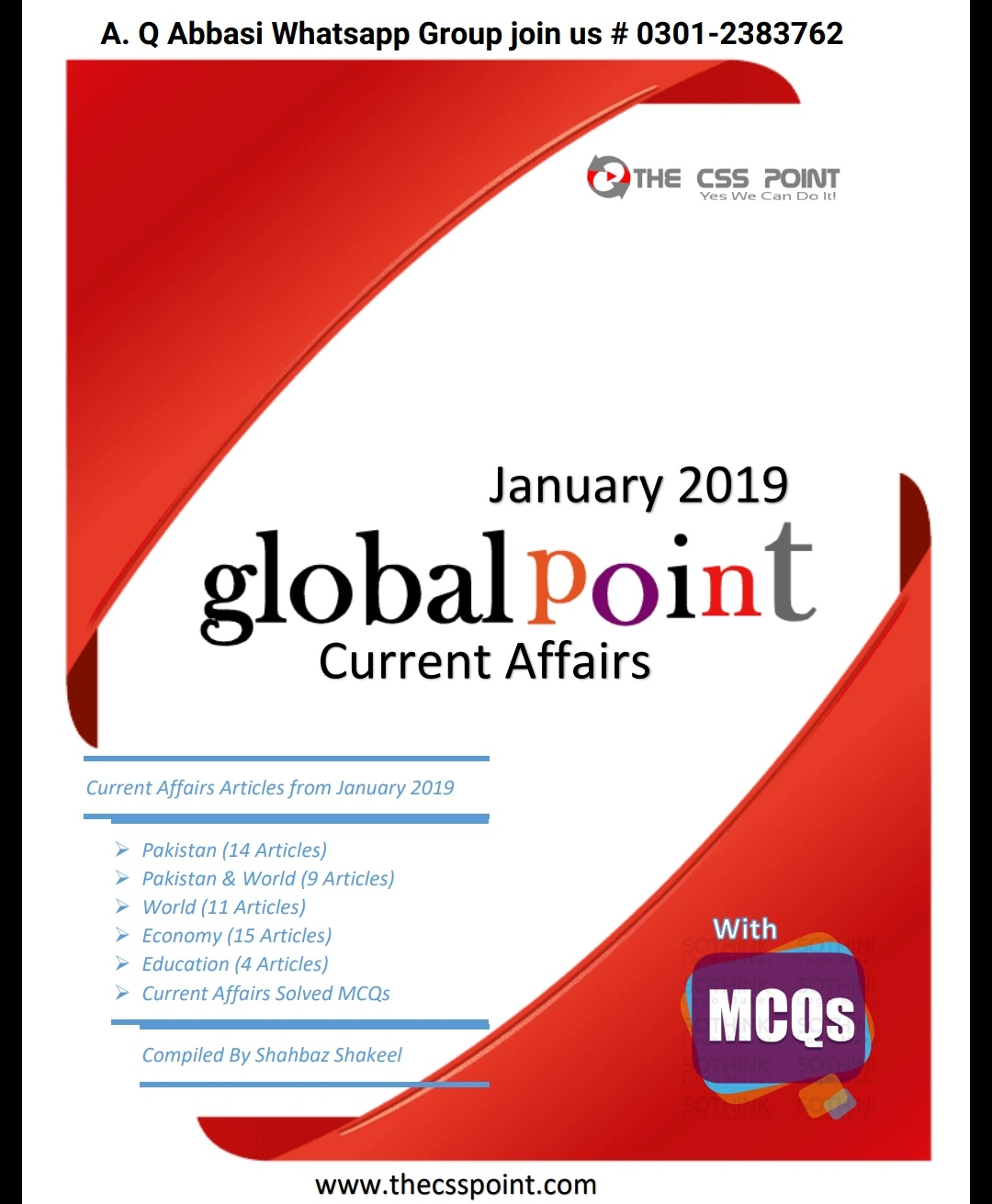 Monthly Global Point Current Affairs January 2019 | Top
