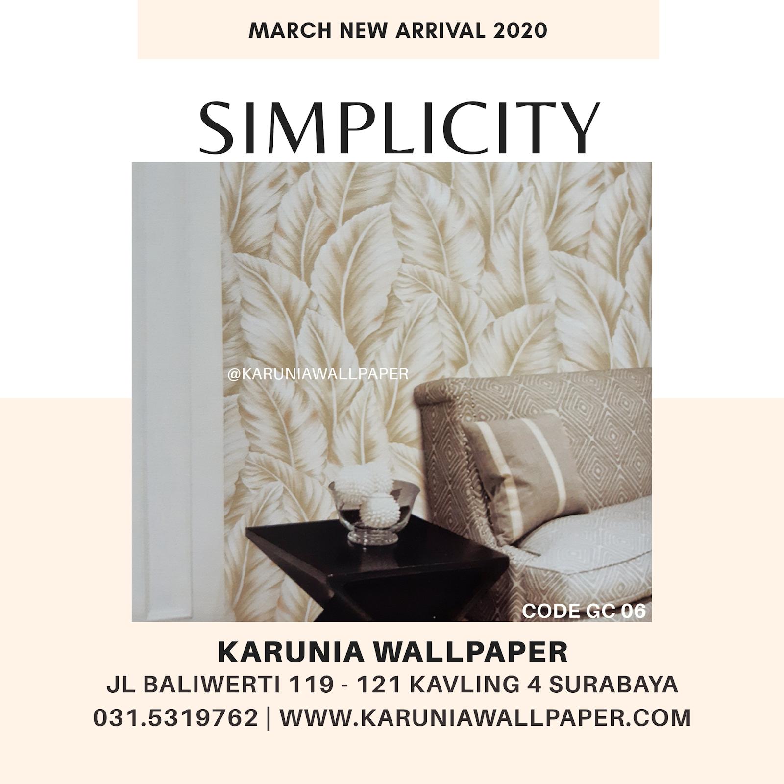 jual dinding wallpaper krem daun