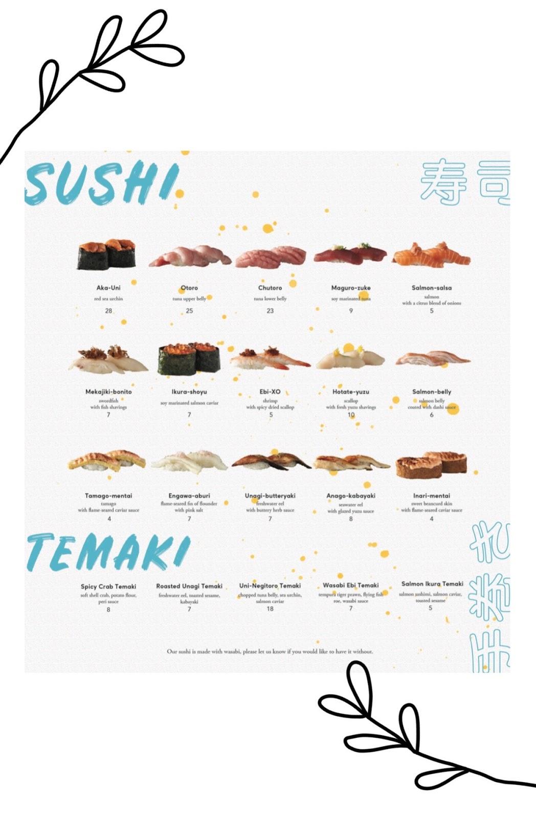 omote menu 6