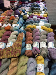 Selection of hand dyed yarns from Snail Yarns