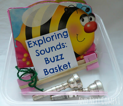 Explore the sounds of buzzing bees with this buzz basket and reading activity from And Next Comes L